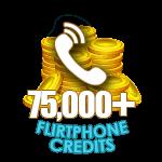 Flirt Phone 75,000 Credits