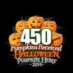 Halloween 450 Pumpkins