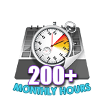 200 Hours Online in a Month