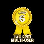Multi-User 120cpm - Level 6