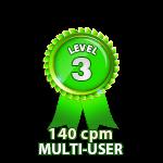 Multi-User 140cpm - Level 3