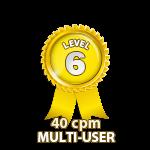 Multi-User 40cpm - Level 6