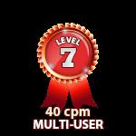 Multi-User 40cpm - Level 7