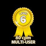 Multi-User 80cpm - Level 6