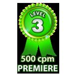 Premiere 500cpm - Level 3