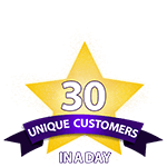 30 Unique Customers in a Day