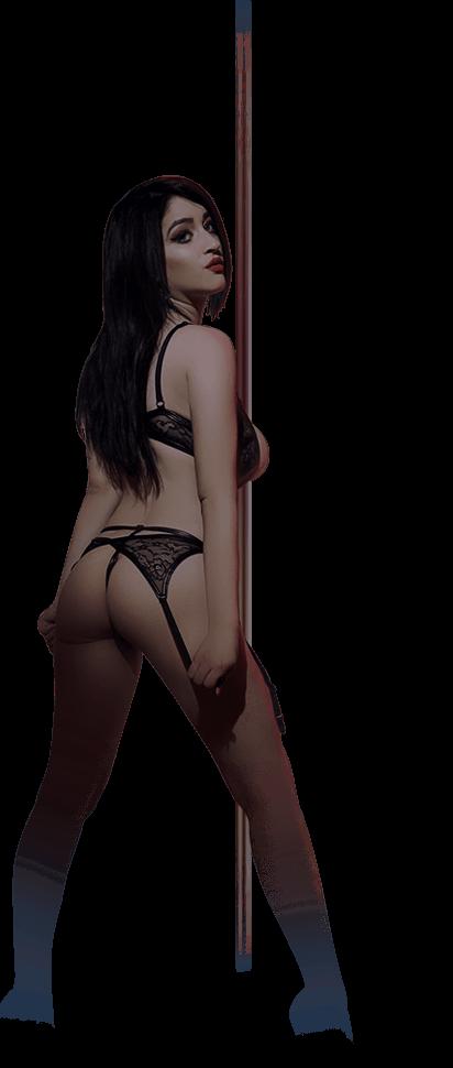brunette strip model