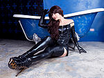 Sexy, latex gloves, latex stockings, latex dress, long heels, strippers, long hair, long legs, feet