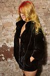 My photo shoot in beautiful fur coats and curious hair color