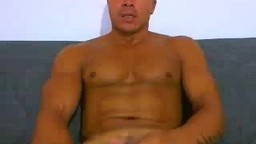 Muscular Asian Blows Load