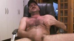 Hairy Bear Jerking Hard