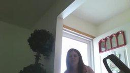 Watching Me Squirt with Front Door Open