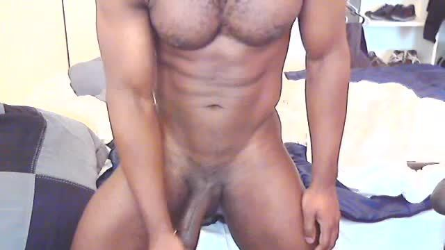 Ebony Model Stevie Plays with His Dick