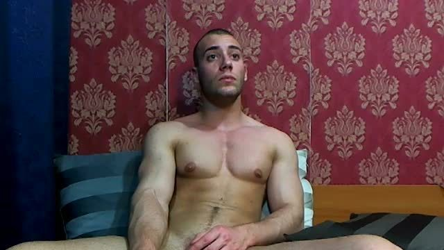 Party Chat: Hot Muscle Stud Strokes His Big Cock
