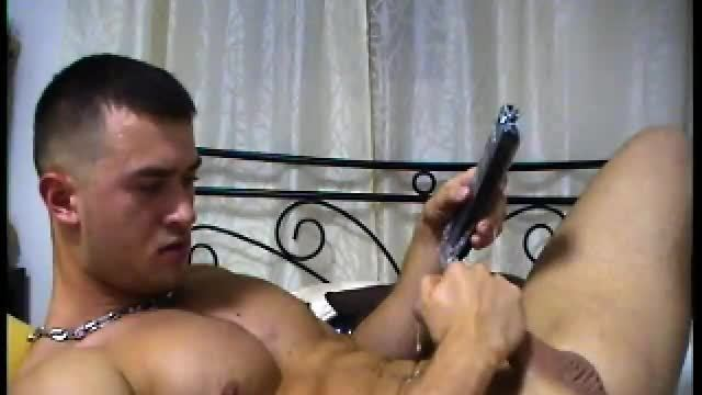 Latino Model Enrique Plays with His Dick