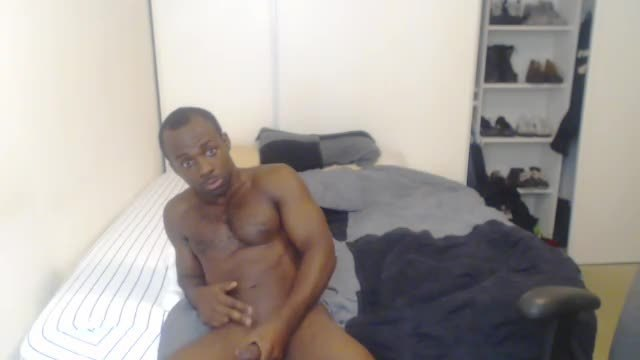 Black Man Pulling His Long Cock
