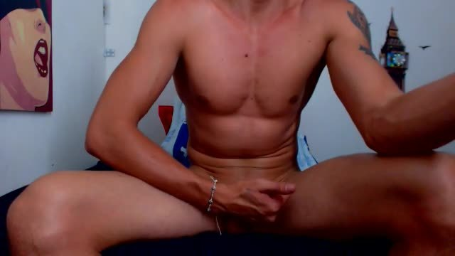Latino Model Fedelio Plays with His Dick