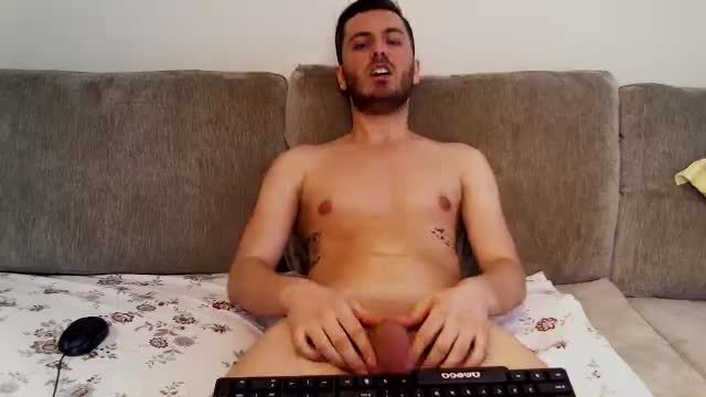 Jerking Cock and Typing