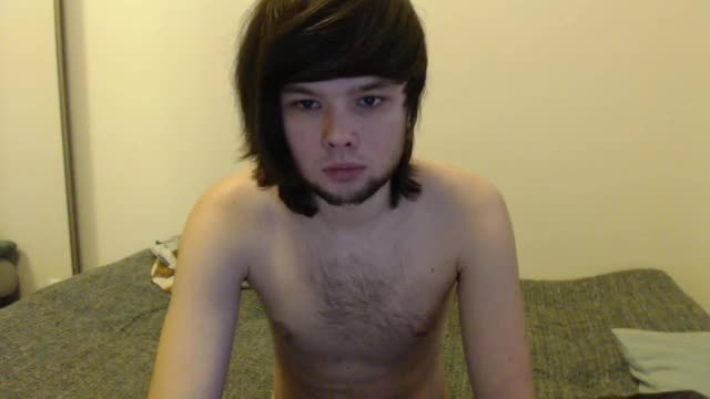 Euro Emo Twink Eiden Strips and Jerks Off Nice Load
