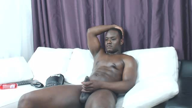 Group Chat: Ebony God Stroking His Cock