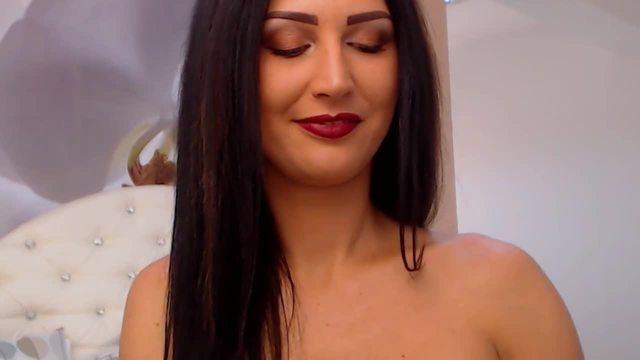 Beautiful Brunette Allison Desire Anal Webcam Show
