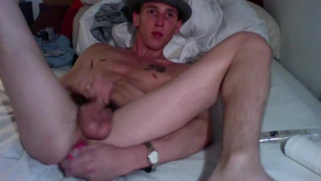 British Twink Rob in Horny Ass Play with Different Toys