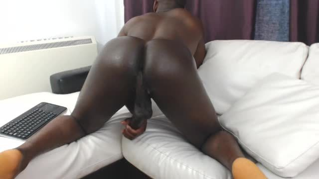Big Black Cock Oiled Up. a Ride for Days