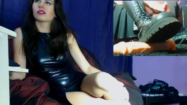 Mistress Places Boot on Cock