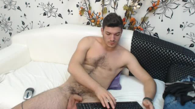 European Male Conan Plays with His Dick