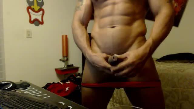 Latino Model Jessid Jerks His Dick