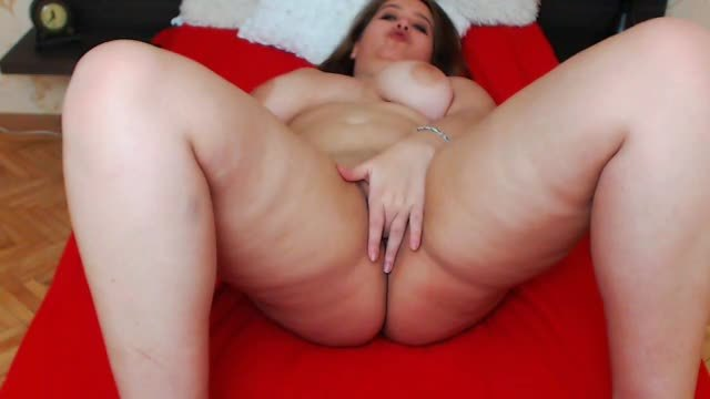 Beautiful Bbw Playing with Body