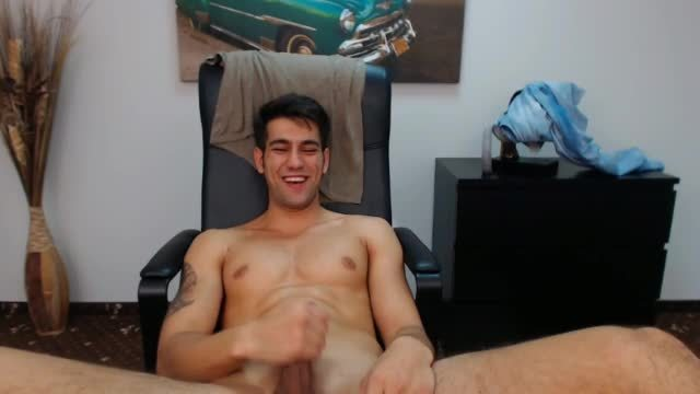 Latin Guy Strokes His Cock