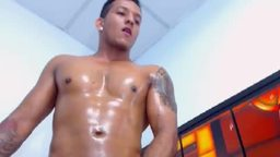 Sexy Maik Jerking Cock and Shooting Big