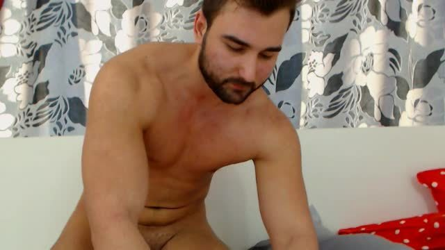 Model Taking Underwear Off  and Jerking Off