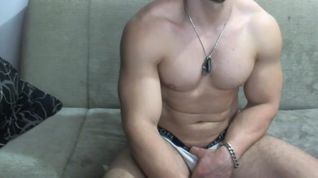 Party Chat: Muscular Latino Model Jerks Dick