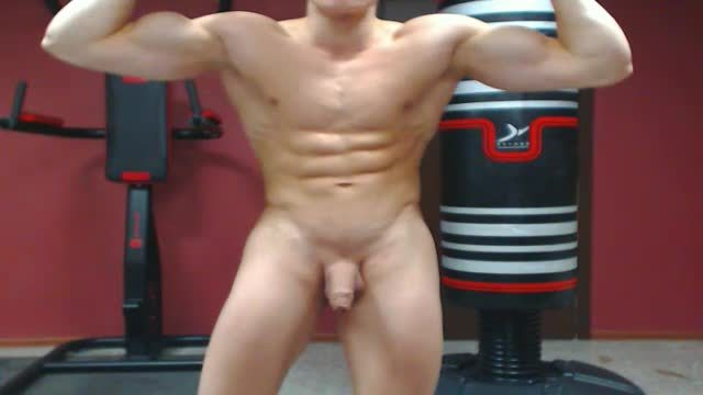 A Little Jerk and Webcam Showing His Body