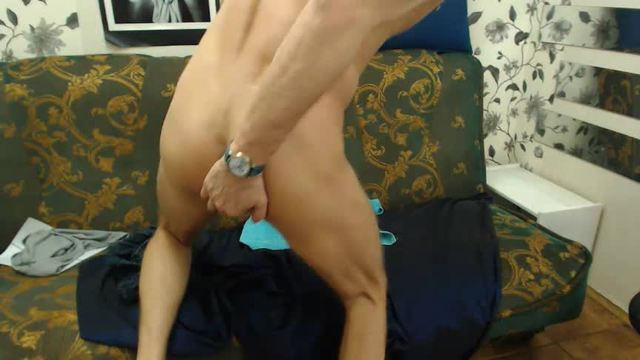 European Model, Zack Plays with His Dick and Dildo