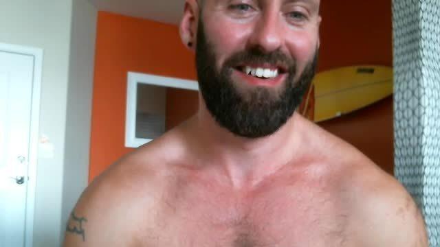 Hairy Stud Masturbates His Giant Cock