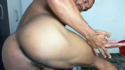 Ebony Model Enzo Plays with His Dick