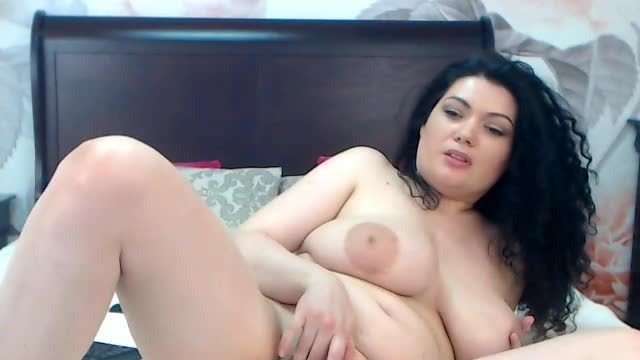 A Larger Woman Masturbates