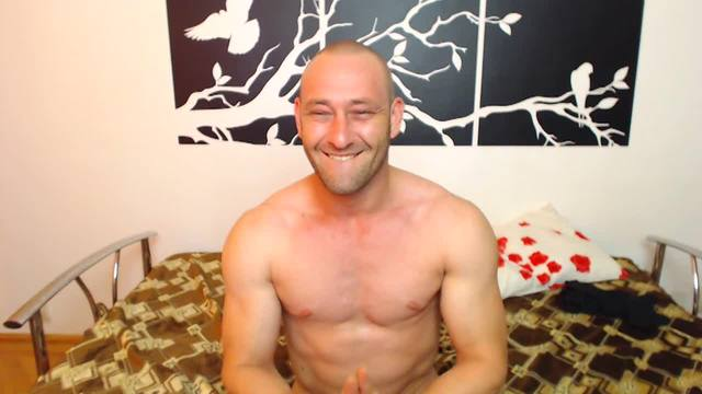 Old Dude Webcam Showing Off Body to Camera