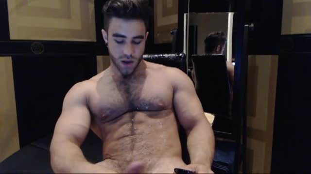 Group Chat: Keon Davis Tosses a Load Across His Hairy Chest