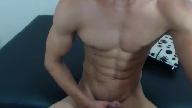 Smooth Latino Display Erection and Massages It