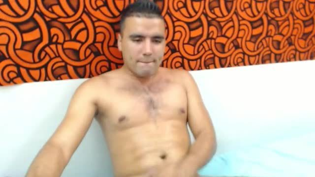 Group Chat: Latino Stud Jerks His Big Uncut Cock