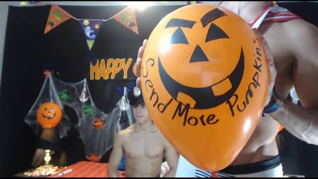 Party Chat: Hot Halloween Fun with Christian and Derek