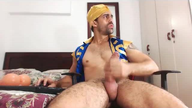 Tiago Jerking His Huge Cock