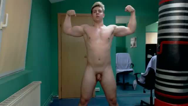 Horny Sean Bends over and Webcam Shows Off His Ass