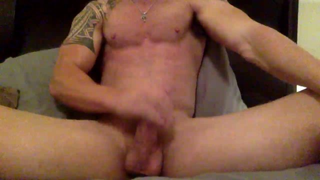 Hairy Muscled Daddy Jerking Off