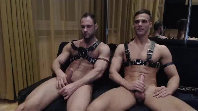 Denton Sucks Justin, then They Masturbate for an Hour in Harnesses