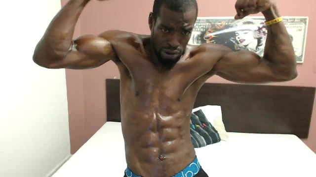 Latin Ebony Guy with Muscle